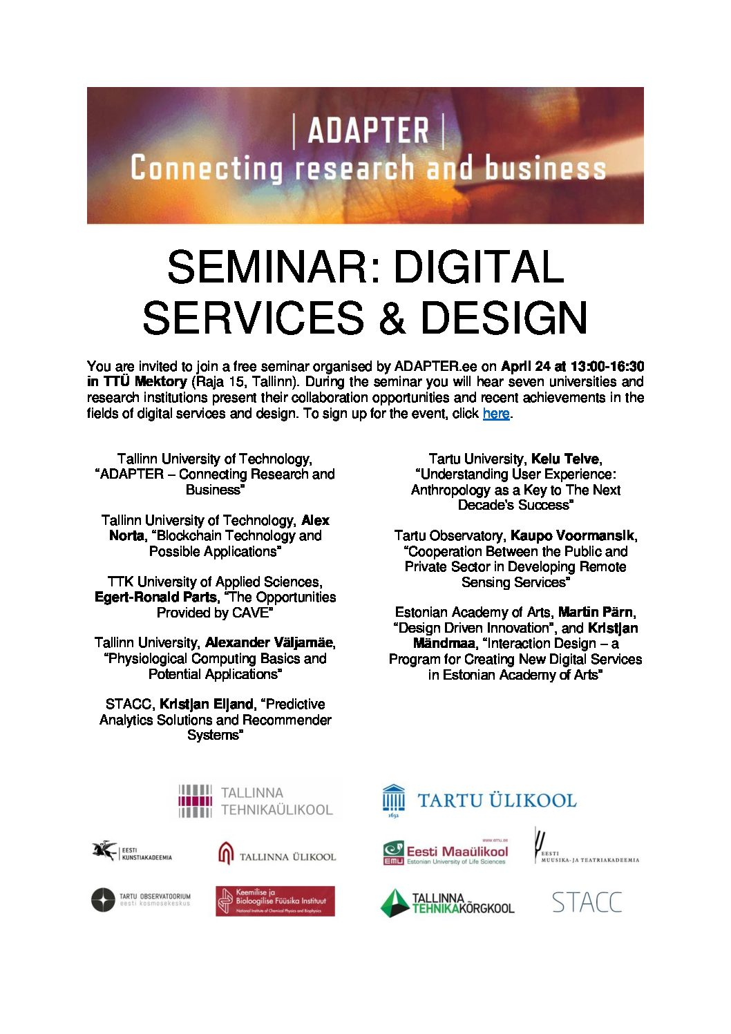 Invitation_ADAPTER_Digital Services and Design_24.04.2017