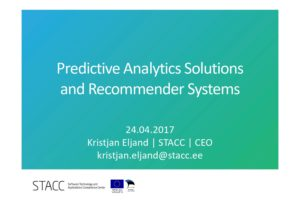 Kristjan Eljand - Predictive Analytics Solutions and