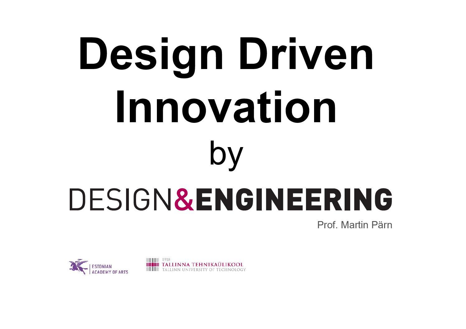 Martin Pärn – Design Driven Innovation