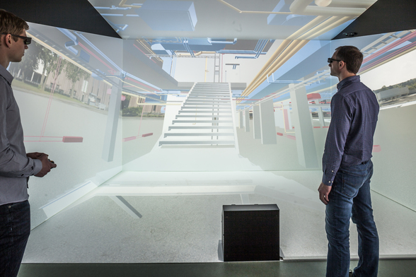 A Virtual Reality Laboratory Displays Buildings that do not Exist Yet