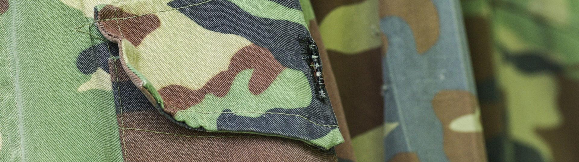 Military uniform fabric